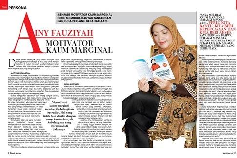 Majalah Paras Persona - Motivator Kaum Marginal