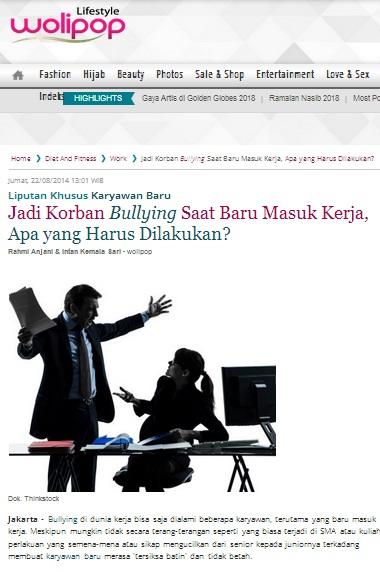 Liputan Khusus Karyawan Baru - Jadi Korban Bullying Saat Baru Masuk Kerja, Apa yang Harus Dilakukan?