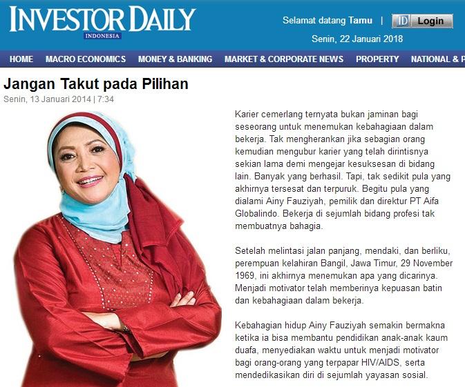 Investor Daily - Jangan Takut pada Pilihan