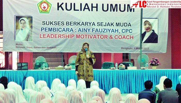 motivator-indonesia-Ainy-Fauziyah-leadership-training-ALC-Motivator-Nasional-Aimy-Fauziyah-menginspirasi-milenial-untuk-sukses-berkarya-selagi-muda.